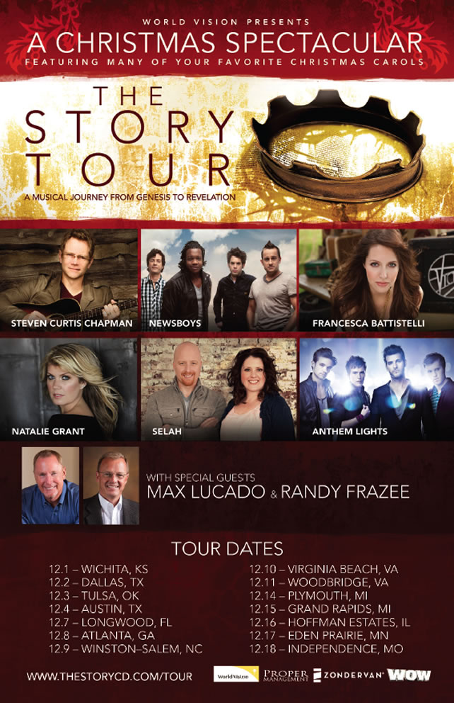 The Story Christmas Spectacular Featuring Randy Frazee, Max Lucado, STEVEN CURTIS CHAPMAN, NEWSBOYS, FRANCESCA BATTISTELLI, NATALIE GRANT, SELAH, and ANTHEM LIGHTS