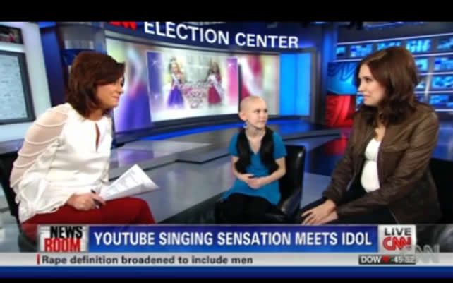 Francesca Surprises a Young Fan on CNN
