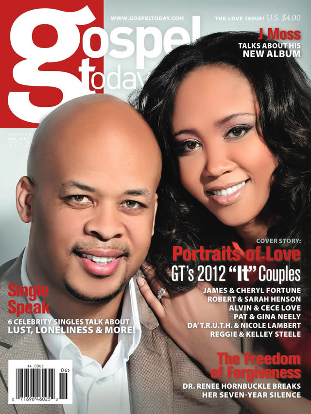JAMES  CHERYL FORTUNE FEATURED ON COVER OF MAY-JUNE GOSPEL TODAY