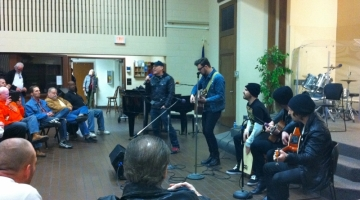 Kutless performs at Union Gospel Mission - a mens shelter