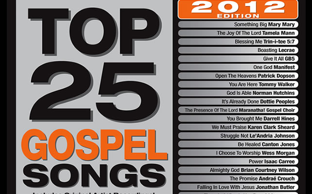 Maranatha! Music Releases Top 25 Gospel Songs 2012 Featuring Legendary Chart-Topping Talents