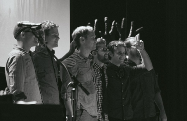Photo of Andrew Peterson and CALEB from The Light For The Lost Boy Tour