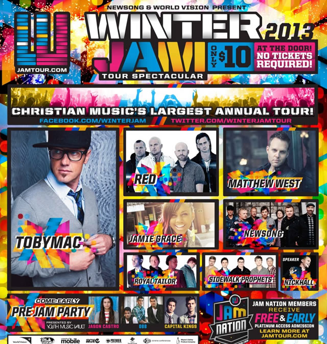 Winter Jam 2013 Tour Spectacular Dates