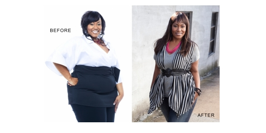 Mandisa in 2006 during her American Idol season, and now, in 2011 after shedding 100 lbs